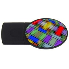 Abstract Background Pattern USB Flash Drive Oval (2 GB)