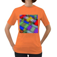 Abstract Background Pattern Women s Dark T-Shirt