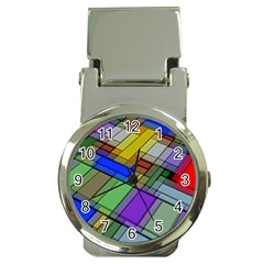 Abstract Background Pattern Money Clip Watches