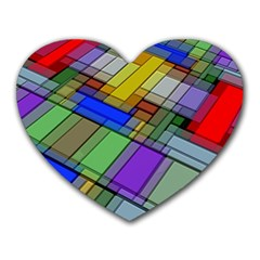 Abstract Background Pattern Heart Mousepads