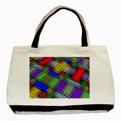 Abstract Background Pattern Basic Tote Bag (Two Sides)