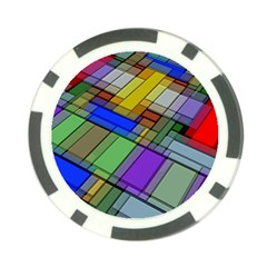 Abstract Background Pattern Poker Chip Card Guards