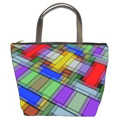 Abstract Background Pattern Bucket Bags