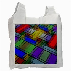 Abstract Background Pattern Recycle Bag (One Side)