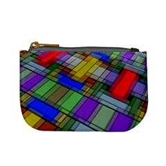 Abstract Background Pattern Mini Coin Purses