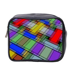 Abstract Background Pattern Mini Toiletries Bag 2-Side