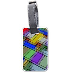 Abstract Background Pattern Luggage Tags (One Side)