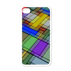 Abstract Background Pattern Apple iPhone 4 Case (White)