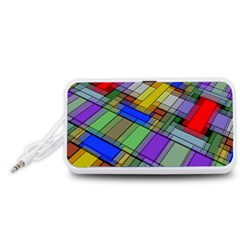 Abstract Background Pattern Portable Speaker (White)