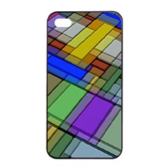 Abstract Background Pattern Apple iPhone 4/4s Seamless Case (Black)