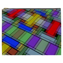 Abstract Background Pattern Cosmetic Bag (XXXL)