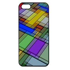 Abstract Background Pattern Apple iPhone 5 Seamless Case (Black)