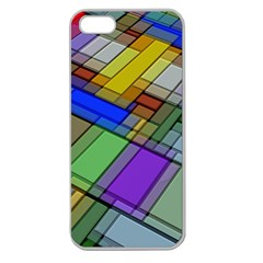 Abstract Background Pattern Apple Seamless iPhone 5 Case (Clear)