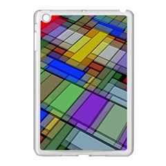 Abstract Background Pattern Apple iPad Mini Case (White)