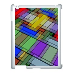 Abstract Background Pattern Apple iPad 3/4 Case (White)