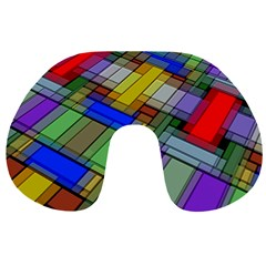 Abstract Background Pattern Travel Neck Pillows