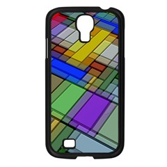 Abstract Background Pattern Samsung Galaxy S4 I9500/ I9505 Case (Black)