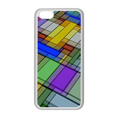 Abstract Background Pattern Apple iPhone 5C Seamless Case (White)