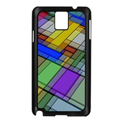 Abstract Background Pattern Samsung Galaxy Note 3 N9005 Case (Black)