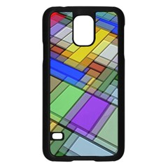Abstract Background Pattern Samsung Galaxy S5 Case (Black)