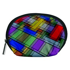 Abstract Background Pattern Accessory Pouches (Medium)