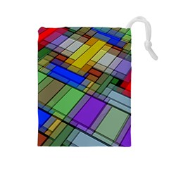 Abstract Background Pattern Drawstring Pouches (Large)