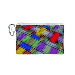 Abstract Background Pattern Canvas Cosmetic Bag (S)