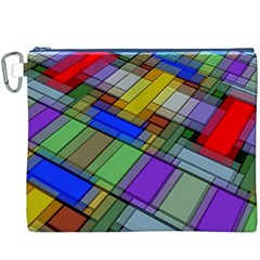 Abstract Background Pattern Canvas Cosmetic Bag (XXXL)