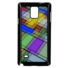 Abstract Background Pattern Samsung Galaxy Note 4 Case (Black)