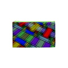 Abstract Background Pattern Cosmetic Bag (XS)