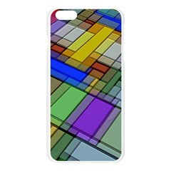 Abstract Background Pattern Apple Seamless iPhone 6 Plus/6S Plus Case (Transparent)