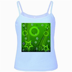 Art About Ball Abstract Colorful Baby Blue Spaghetti Tank
