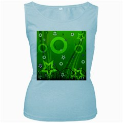 Art About Ball Abstract Colorful Women s Baby Blue Tank Top