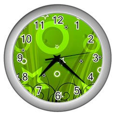 Art About Ball Abstract Colorful Wall Clocks (Silver)