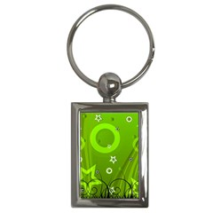 Art About Ball Abstract Colorful Key Chains (Rectangle)