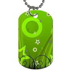 Art About Ball Abstract Colorful Dog Tag (One Side)