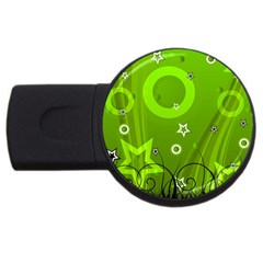 Art About Ball Abstract Colorful USB Flash Drive Round (1 GB)