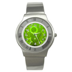 Art About Ball Abstract Colorful Stainless Steel Watch
