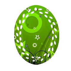Art About Ball Abstract Colorful Ornament (Oval Filigree)