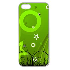 Art About Ball Abstract Colorful Apple Seamless iPhone 5 Case (Clear)