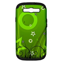 Art About Ball Abstract Colorful Samsung Galaxy S III Hardshell Case (PC+Silicone)