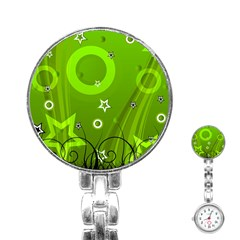 Art About Ball Abstract Colorful Stainless Steel Nurses Watch