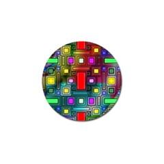 Art Rectangles Abstract Modern Art Golf Ball Marker