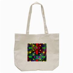 Art Rectangles Abstract Modern Art Tote Bag (Cream)