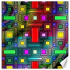 Art Rectangles Abstract Modern Art Canvas 20  x 20