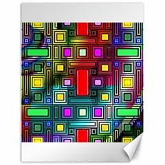 Art Rectangles Abstract Modern Art Canvas 18  x 24