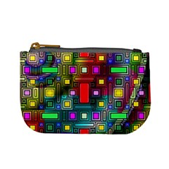 Art Rectangles Abstract Modern Art Mini Coin Purses