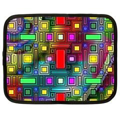 Art Rectangles Abstract Modern Art Netbook Case (XXL)