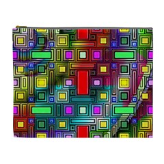 Art Rectangles Abstract Modern Art Cosmetic Bag (XL)