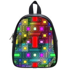 Art Rectangles Abstract Modern Art School Bags (Small)